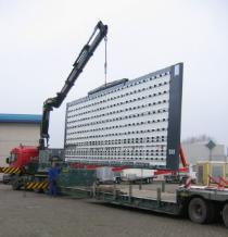 transfert d'atelier - déménagement Scie à Panneaux verticale et des systèmes d'aspiration